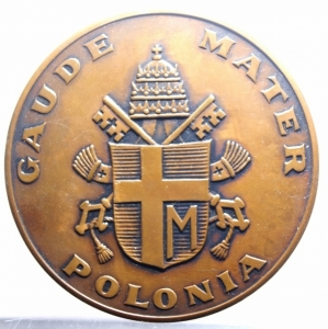 reverse: Medaglie Papali.Giovanni Paolo II (1978-2005), Karol Wojtyla.Polonia .GAUDE MATER POLONIA. FDC.***