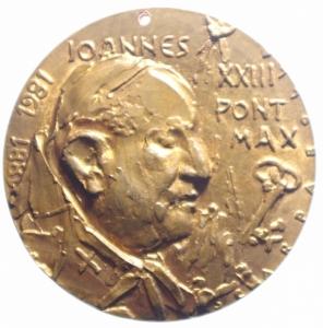 obverse: Medaglie Papali.Giovanni XXIII. Medaglia celebrebrativa del centenario della nascita.LAVRENTIVS IVSTINIANUS VENET PRO PATRIARHA.Foro.BB+.***