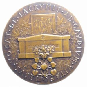 reverse: Medaglie Papali.Giovanni XXIII. JESUS VOCAT DE LACRYMIS AD GAUDIUM VITAE.Diametro 41,00 mm.FDC.***
