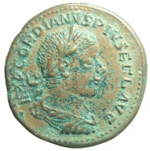 obverse: Medaglie.Medaglia a imitazione di sesterzio di Gordiano III.Peso22,10 gr.BB+