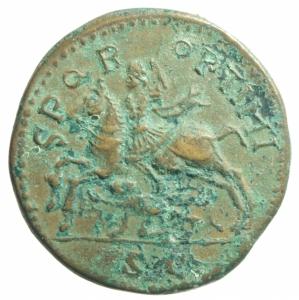 reverse: Medaglie.Medaglia a imitazione di sesterzio di Gordiano III.Peso22,10 gr.BB+