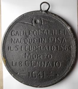 reverse: Medaglie - Galileo Galilei. Padova. Medaglia in metallo. gr 86,73. mm 66,7. Le date della nascita e della morte non corrispondono ??