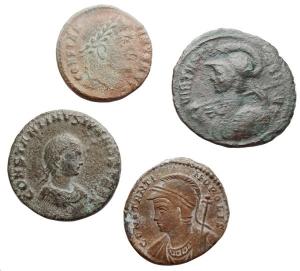 obverse: Lotti - Impero Romano.Lotto di 4 Ae. Probo, Costantino I, Constantinopolis, Costantino II. Mediamente BB