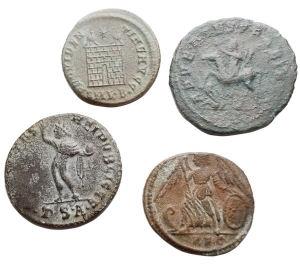 reverse: Lotti - Impero Romano.Lotto di 4 Ae. Probo, Costantino I, Constantinopolis, Costantino II. Mediamente BB