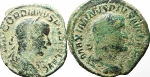 obverse: Lotti. Impero Romano. Lotto di 2 Sesterzi Massimino e Gordiano III, mediamente MB\qBB.w