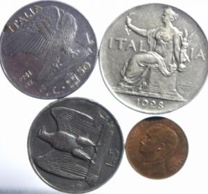 obverse: Lotti.Casa Savoia.Lotto di 4 monete.discrete conservazione media