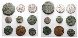 obverse: Lotti - Mondo Greco e Romano. Interessante insieme di 9 pezzi in Ag e Ae