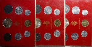 obverse: Lotti.Vaticano. Paolo VI.Lotto di 3 serie in confezione Anno VIII, IX,X.
