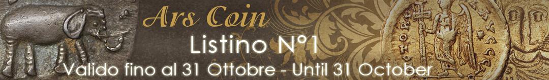 Banner Ars Coin listino n° 1