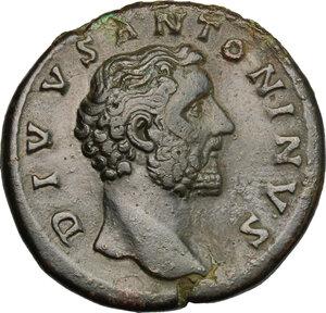 obverse: Antoninus Pius (138-161).. AE Sestertius, struck under Marcus Aurelius