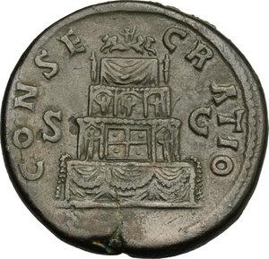 reverse: Antoninus Pius (138-161).. AE Sestertius, struck under Marcus Aurelius