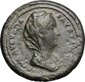 obverse: Faustina I, wife of Antoninus Pius (died 141 AD).. AE Medallion, Rome mint, after 141 AD