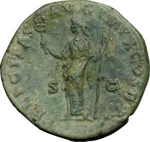 reverse: Marcus Aurelius (161-180).. AE Sestertius, 179 AD