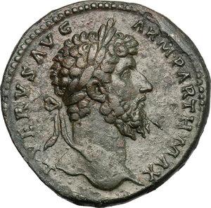 obverse: Lucius Verus (161-169).. AE Sestertius, 165 AD