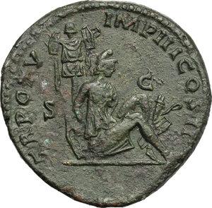 reverse: Lucius Verus (161-169).. AE Sestertius, 165 AD