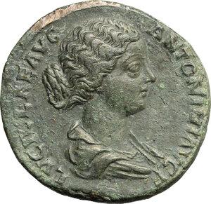 obverse: Lucilla, wife of Lucius Verus (died 183 AD).. AE Sestertius