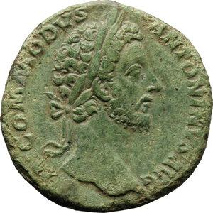 obverse: Commodus (177-192).. AE Sestertius, 181-182 AD