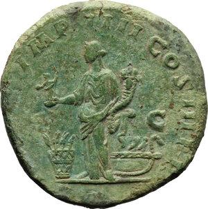 reverse: Commodus (177-192).. AE Sestertius, 181-182 AD