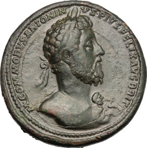 obverse: Commodus (177-192).. AE Medallion, Rome mint, 186-187 AD