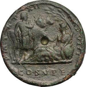reverse: Commodus (177-192).. AE Medallion, Rome mint, 186-187 AD