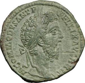 obverse: Commodus (177-192).. AE Sestertius, 186-187 AD