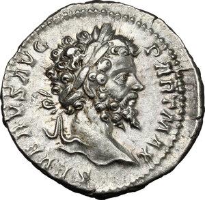 obverse: Septimius Severus (193-211).. AR Denarius, Rome mint, 200-201 AD