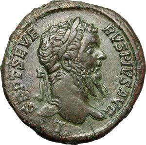 obverse: Septimius Severus (193-211).. AE Sestertius, 210 AD