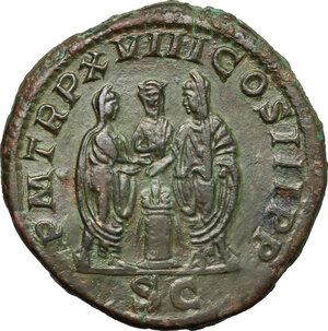 reverse: Septimius Severus (193-211).. AE Sestertius, 210 AD