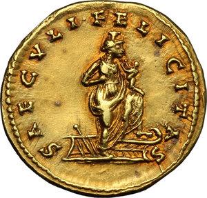 reverse: Julia Domna, wife of Septimius Severus (died 217 AD).. AV Aureus, Laodicea ad Mare mint, c. 196-202 AD