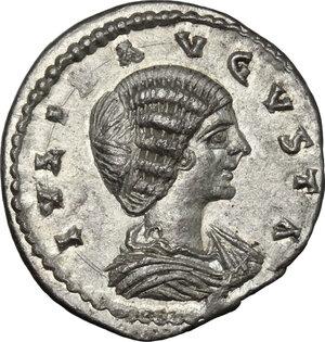 obverse: Julia Domna, wife of Septimius Severus (died 217 AD).. AR Denarius, Laodicea ad Mare mint, c. 198-202 AD