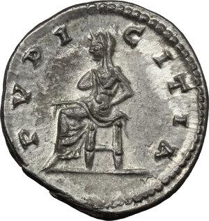 reverse: Julia Domna, wife of Septimius Severus (died 217 AD).. AR Denarius, Laodicea ad Mare mint, c. 198-202 AD