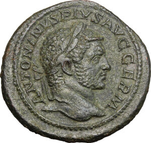 obverse: Caracalla (198-217).. AE As, Rome mint, 214-217 AD