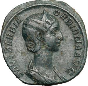 obverse: Orbiana, wife of Severus Alexander (225-226).. AE Sestertius, 225 AD
