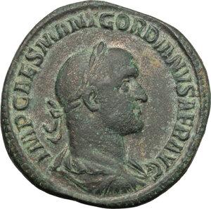 obverse: Gordian II Africanus (238 AD).. AE Sestertius