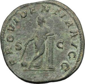 reverse: Gordian II Africanus (238 AD).. AE Sestertius
