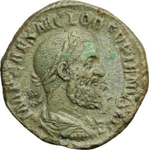 obverse: Pupienus (238 AD).. AE Sestertius, Rome mint