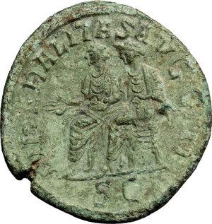 reverse: Philip II (246-249).. AE Sestertius, Rome mint, 246-249.ì AD