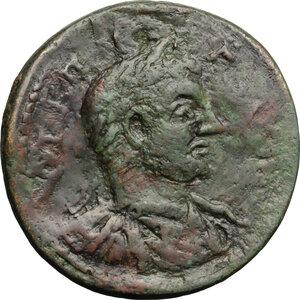 obverse: Gallienus (253-268).. AE Medallion, Apollonia Mordiaeum mint, Pisidia