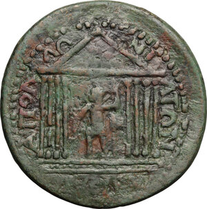 reverse: Gallienus (253-268).. AE Medallion, Apollonia Mordiaeum mint, Pisidia