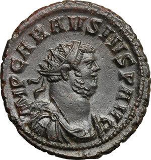 obverse: Carausius (287-293).. BI Antoninianus, Londinium or Camulodunum mint (?)