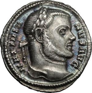 obverse: Maximian (286-310).. AR Argenteus, Aquileia mint, 300 AD