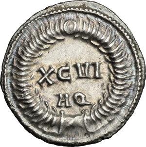 reverse: Maximian (286-310).. AR Argenteus, Aquileia mint, 300 AD