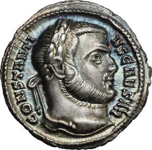 obverse: Constantius I Chlorus as Caesar (293-305).. AR Argenteus, Aquileia mint