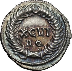 reverse: Constantius I Chlorus as Caesar (293-305).. AR Argenteus, Aquileia mint