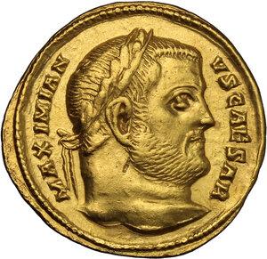 obverse: Galerius as Caesar (293-305).. AV Aureus, Aquileia mint, 303-305 AD