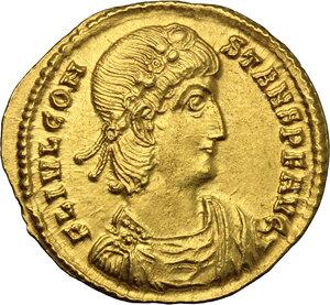 obverse: Constans (337-350).. AV Solidus, Thessalonica mint, 337-340 AD