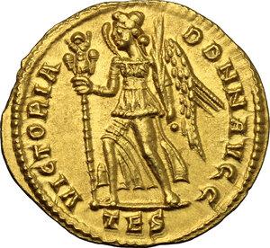 reverse: Constans (337-350).. AV Solidus, Thessalonica mint, 337-340 AD