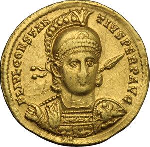 obverse: Constantius II (337-361).. AV Solidus, Sirmium mint