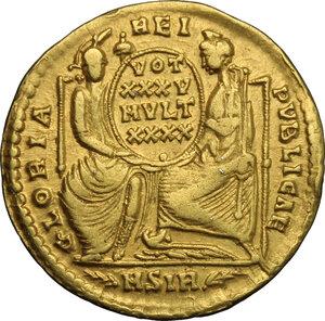 reverse: Constantius II (337-361).. AV Solidus, Sirmium mint