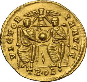 reverse: Valens (364-378).. AV Solidus, Treveri mint